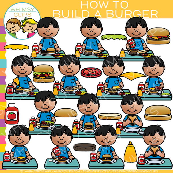 How to Build a Burger Clip Art