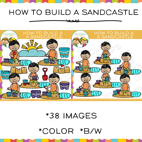How to Build a Sandcastle Clip Art
