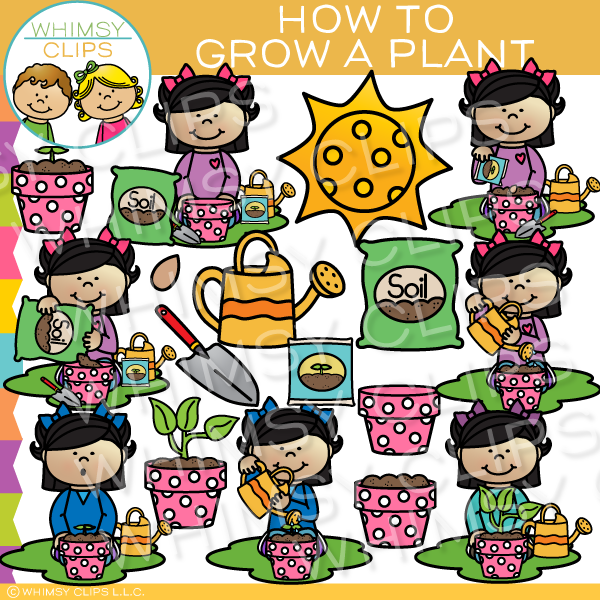 How to Grow a Plant Clip Art