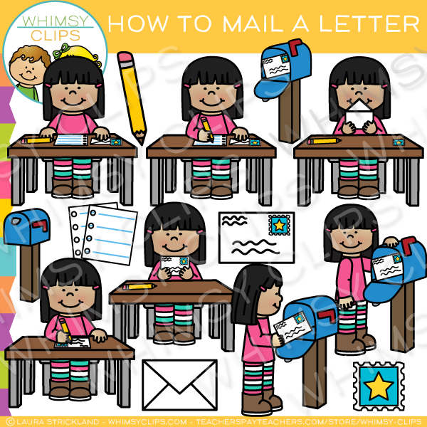 How to Mail a Letter Clip Art