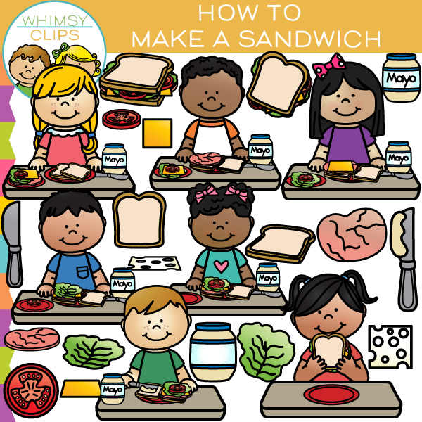 How to Make a Sandwich Clip Art , Images & Illustrations | Whimsy ...