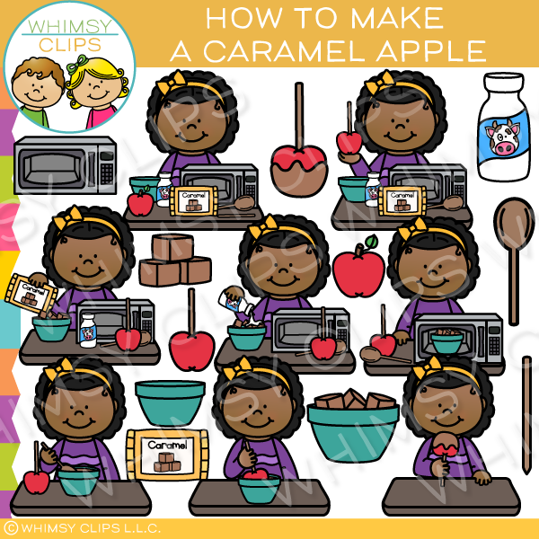 How to Make a Caramel Apple Clip Art