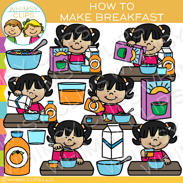 How to Make Breakfast Sequencing Clip Art
