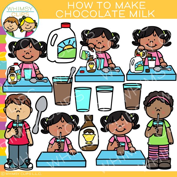 How to Make Chocolate Milk Clip Art