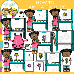 How to Paint a Picture Clip Art