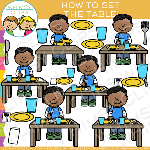 Set the Table Sequencing Clip Art