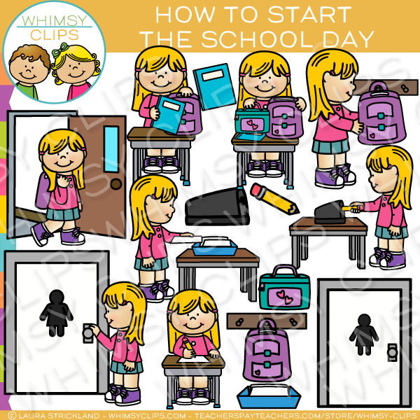 How to Start the School Day Sequencing Clip Art