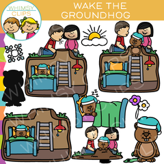 How to Wake the Groundhog Clip Art