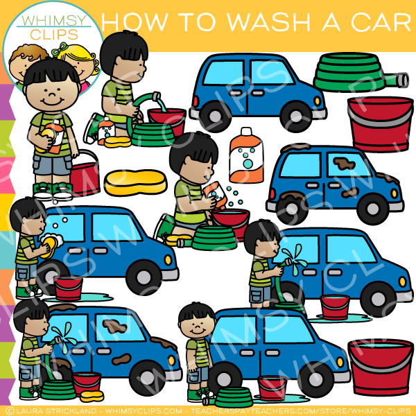 How to Wash a Car Clip Art