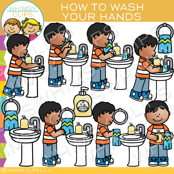 How to Wash Your Hands Clip Art