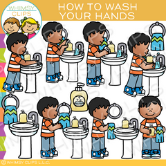 Wash Your Hands Daily Routines Clip Art