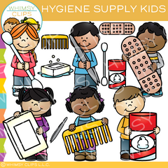 Hygiene Supply Kids Clip Art