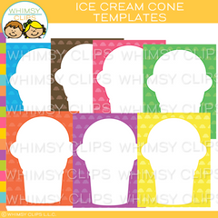 Ice Cream Cone Templates
