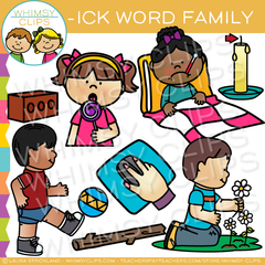 -ick Word Family Clip Art