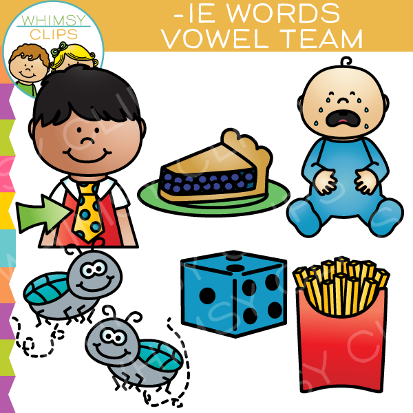 Vowel Teams Clip Art - IE Words , Images & Illustrations | Whimsy ...