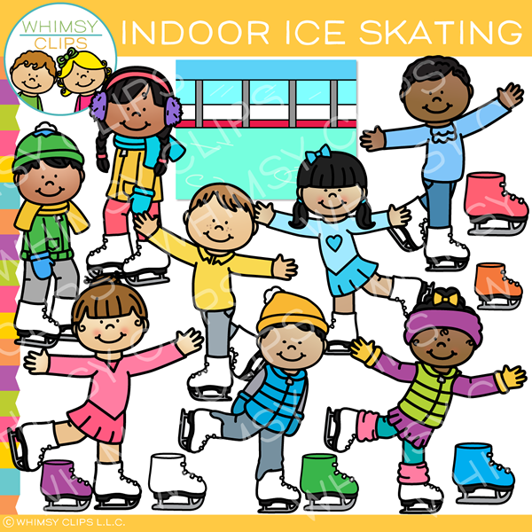 Indoor Ice Skating Clip Art