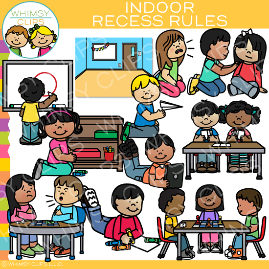 Indoor Recess Rules Clip Art
