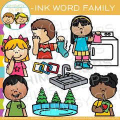 -ink Word Family Clip Art
