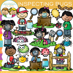 Inspecting Bugs Clip Art