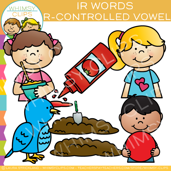 IR Words R-Controlled Vowel Clip Art