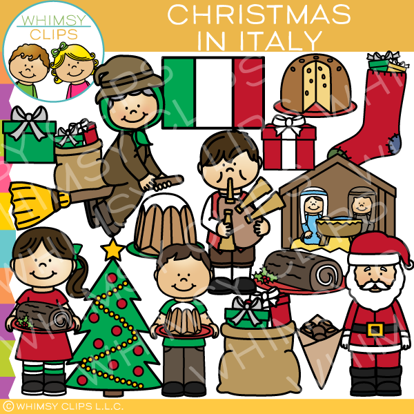 Christmas in Italy Clip Art