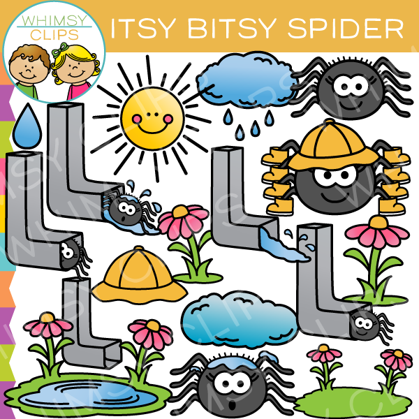 itsy bitsy spider nursery rhyme clip art images illustrations rh whimsyclips com nursery rhyme clipart free nursery rhyme clipart
