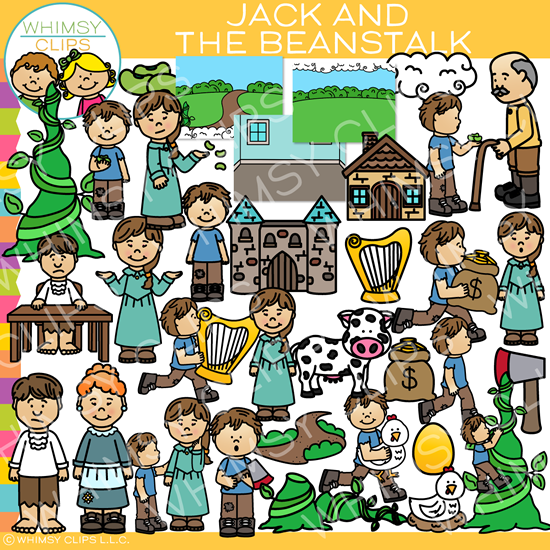 Jack and The Beanstalk Clip Art