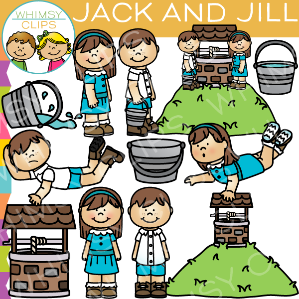 jack and jill nursery rhyme clip art images illustrations rh whimsyclips com jack n jill clipart jack and jill clipart free