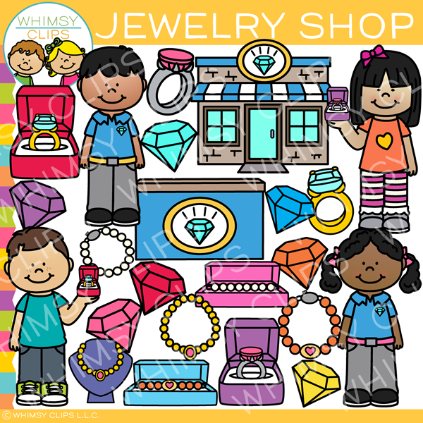 Kids Jewelry Shop Clip Art