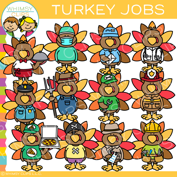 Turkey Jobs Clip Art
