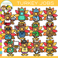 Thanksgiving Turkey Jobs Clip Art