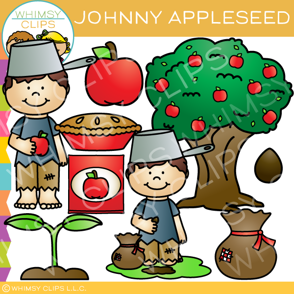 johnny appleseed clip art images illustrations whimsy clips rh whimsyclips com Johnny Appleseed Interactive Story Johnny Appleseed Story Online Interactive