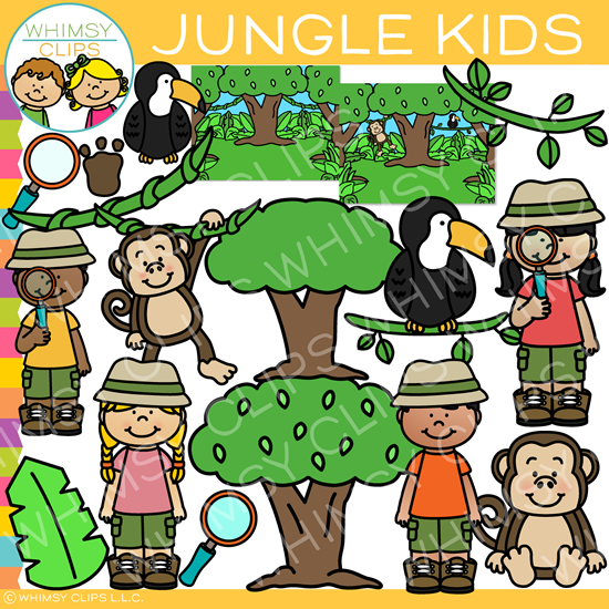 Kids Jungle Clip Art