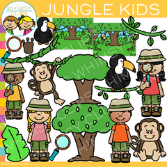 Jungle Kids Clip Art