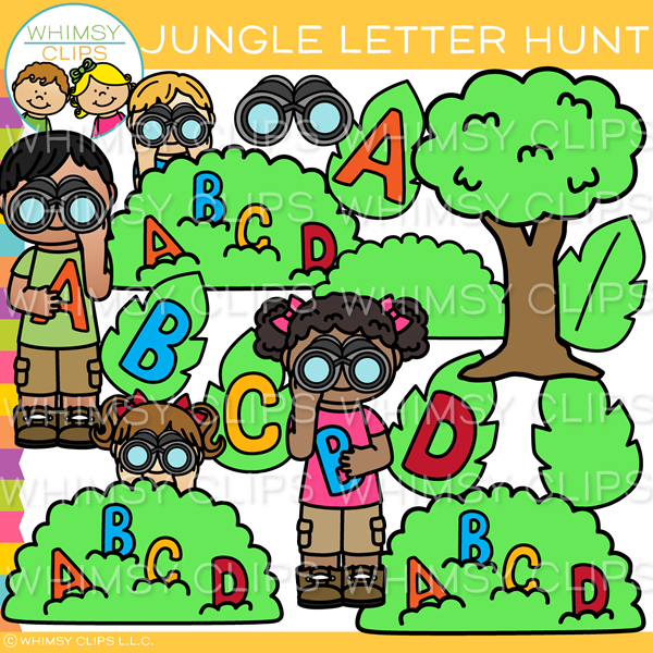 Jungle Letter Hunt Clip Art