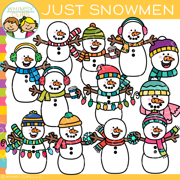 Just Snowmen Clip Art
