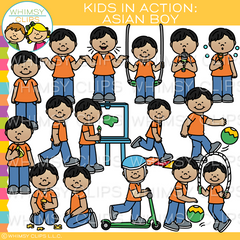 Kids In Action Clip Art