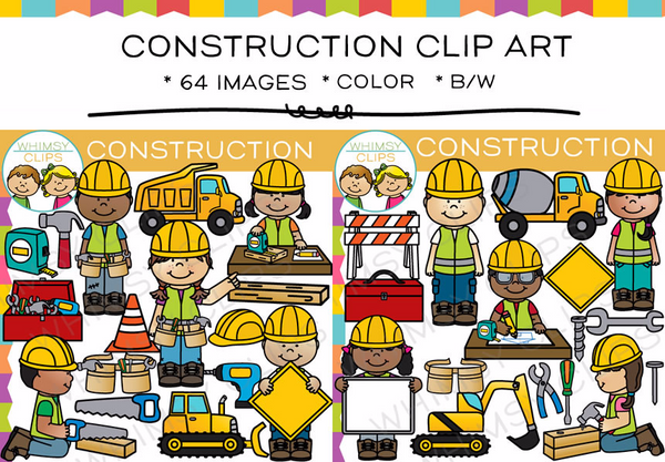 Kids Construction Clip Art