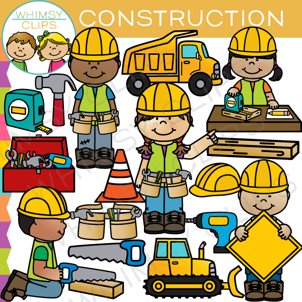 kids construction clip art images amp illustrations