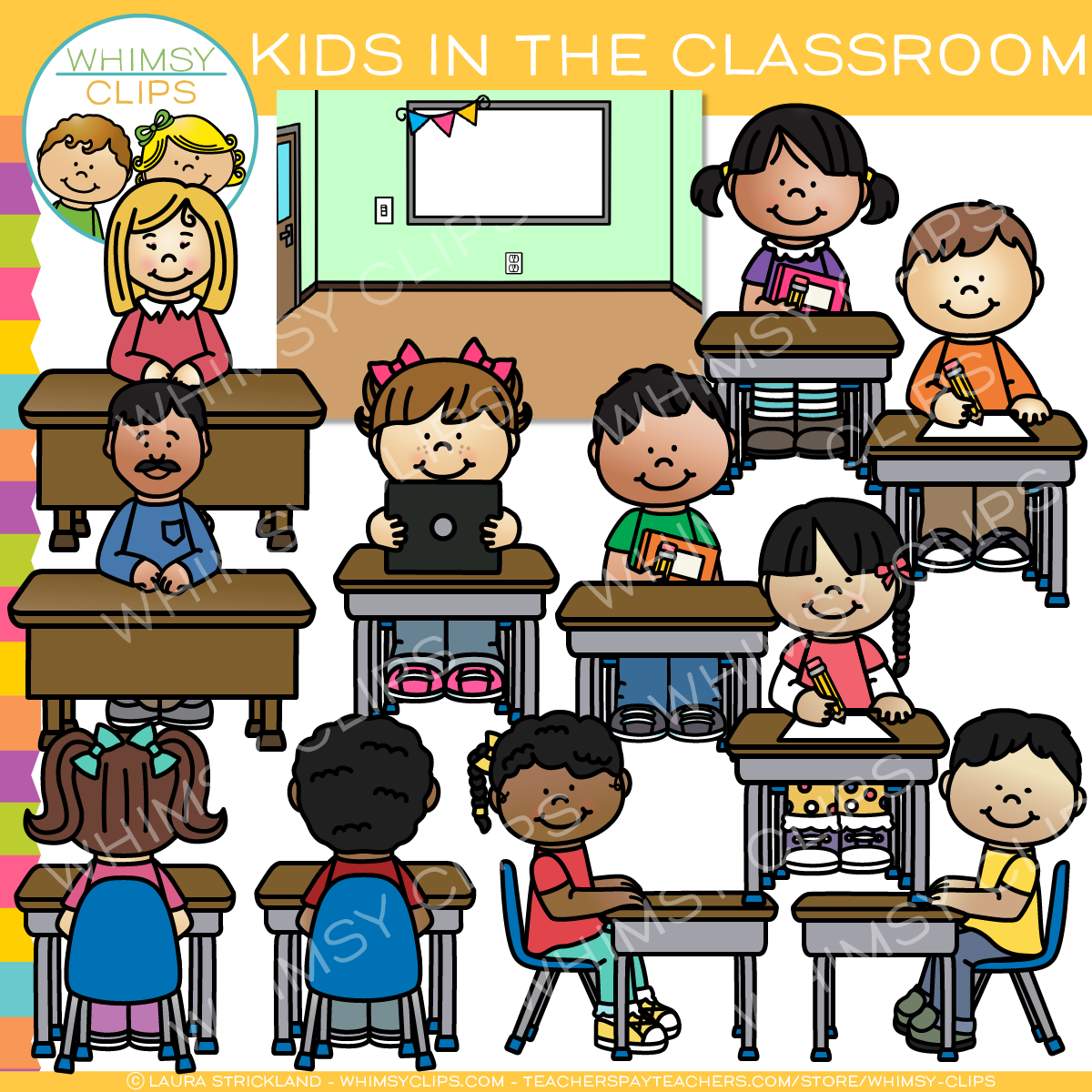Kids in the Classroom Clip Art , Images & Illustrations ...