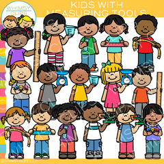 Kids with Measurement Tools Clip Art
