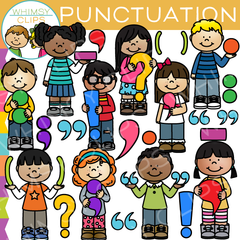 Kids Punctuation Clip Art