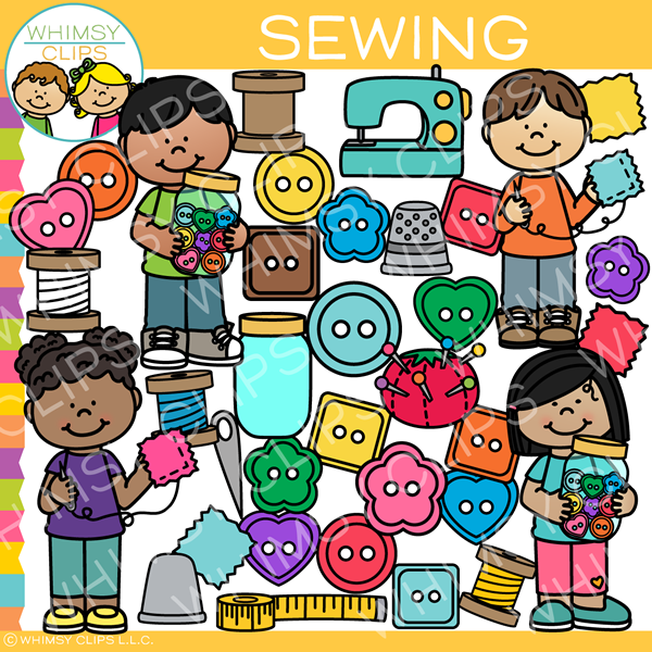 Sewing Buttons Clip Art