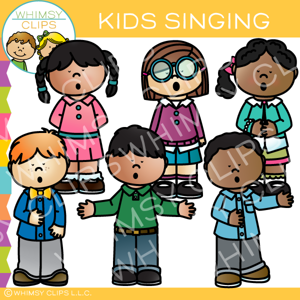 Kids Singing Clip Art