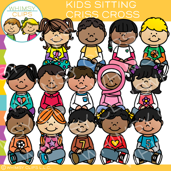 Kids Sitting Criss Cross Clip Art