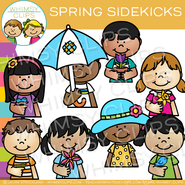 Spring Sidekicks Clip Art