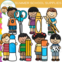 Summer School Supplies Clip Art
