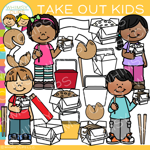 Kids Takeout Clip Art