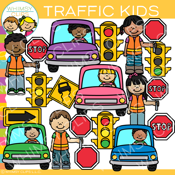 Traffic Kids Clip Art