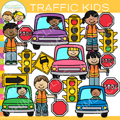 Kids Traffic Clip Art